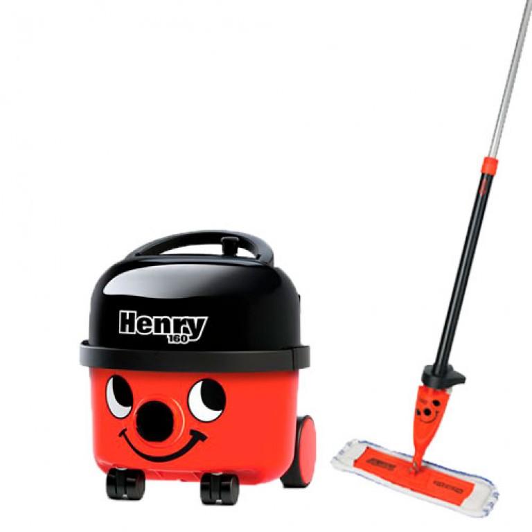Henry støvsuger HVR160 (6 liters) & Henry spraymoppe